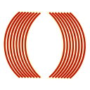 Optimum(オプティマム) リムステッカー 17インチ用 レッド 適合車種:17インチホイール車【あす楽対応】