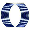 【エントリーでP10倍】ホイール・リム/アクスル リムステッカー 17インチ用 ブルー Optimum(オプティマム)