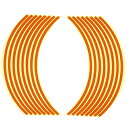 【エントリーでP10倍】ホイール・リム/アクスル リムステッカー 17インチ用 オレンジ Optimum(オプティマム)