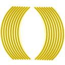 【エントリーでP10倍】ホイール・リム/アクスル リムステッカー 17インチ用 イエロー Optimum(オプティマム)