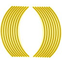 Optimum(オプティマム) リムステッカー 17インチ用 イエロー 適合車種:17インチホイール車【あす楽対応】