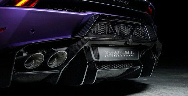 エアロ 2点 セット【ヴォルシュテイナー】LAMBORGHINI Huracan  Novara Edizione Rear Bumper Carbon Fiber In cl. Carbon Fiber Rear Diffuser PP 2x2 Gloss