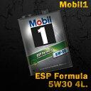 Mobil1 モービル1 エンジンオイルMobil ESP Formula 5W-30 / 5W30 4L缶(4リットル缶)送料60サイズ