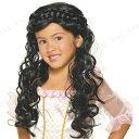 【SALE】 プリンセスウィッグ(ブラック) [ コスプレ 衣装 ハロウィン 子供 パーティーグッズ かぶりもの ウィッグ カツラ かつら 髪の毛 プチ仮装 子供用.女の子 ハロウィン 衣装 キッズ お姫様 変装グッズ ]