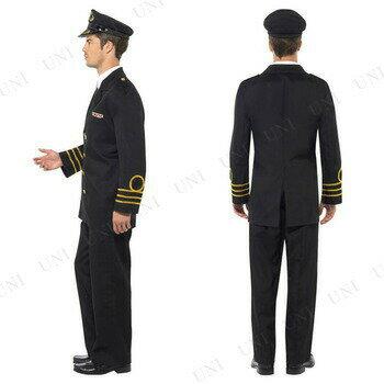 【送料無料】スミッフィー(Smiffy's) ネイビーオフィサー(艦長) メンズ 大人用 M♪ハロウィン 仮装 衣装 コスプレ コスチューム 大人用 メンズ 船長 艦長 ネイビー 海軍 制服:パーティワールド