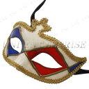 あす楽対応 Uniton ベネチアンマスク ホーンフォックス ブルー/レッド 仮装 衣装 変装グッズ ハロウィングッズ パーティーグッズ ヴェネチアン ドミノマスク アイマスク 仮面舞踏会 かぶりもの コスプレアクセサリー