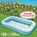 【取寄品】 INTEX(インテックス) レクタングラベビープール 166×100cm 57403 アウトドア・ビーチグッズ ビニールプール 家庭用プール ファミリープール 大きい 大型 大人用 サンタクロース