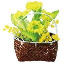 【取寄品】 手さげ篭アレンジ 菜の花 【 飾り POP 店舗装飾品 販促品 デコレーション ディスプレイ 】