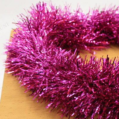 クリスマスツリーオーナメントPatymo200cmパーティーモール(単色/プラム)[パーティーグッズ