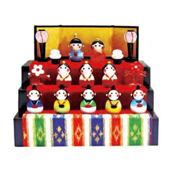 取寄品雛人形ひな人形コンパクト春の豆雛三段飾り販促品ひなまつりおもちゃ店舗装飾品フィギュアディスプレ