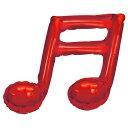 【スティックバルーンお得パック】【5本入り】音符バルーン ミニSHPミュージックトーンダブルメタリックレッドTKR22808