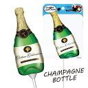 【クリスマスパーティーグッズ】バルーンフォトプロップス シャンパンボトル1個  KIS23379