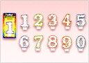 ケーキの数字キャンドル。[キャンドル]ドットポップナンバーキャンドル