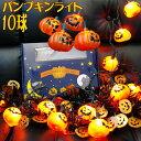【ハロウィン 装飾】パンプキン ストリングライト 10個付【あす楽】
