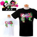 ショッピングスプラトゥーン2 スプラトゥーン2 メンズ プリント 半袖Tシャツ(スプラトゥーン2 グッズ 半袖tシャツ メンズ プリント ホワイト ブラック) 大人用 メール便送料無料