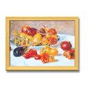 美術, 美術品, 古董, 民間工藝品 - 大感謝価格『ルノワール複製名画額 「南仏の果実」 桧フレーム A3サイズ 17058』ポイント(お寄せ品、返品キャンセル不可)