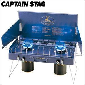 大感謝価格CAPTAINSTAG(キャプテンスタッグ)ステイジャーコンパクトガスツーバーナーコンロM