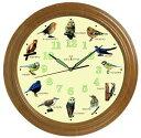 『野鳥の壁掛け電波時計 ho-83663』『メーカー直送品。代引不可・同梱不可・返品キャンセル・割引不可』インテリア 雑貨 グッズ 野鳥の壁掛け電波時計 ho-83663送料無料