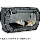 D-culture 猫用ゲージ ポータブル ケージ ブラック 【割引不可・取り寄せ品返品キャンセル不可】