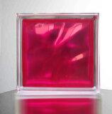 【ガラスブロック190x190x95日本基準サイズ マゼンタ/赤紫色】(割引サービス対象外)インテリア 人気 おしゃれ アイテムグッズ【メーカー直送品。代引・同梱・返品・キャンセル