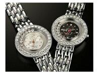 『ハッピークリスタルミッキー腕時計』プレミアムウォッチ腕時計メンズレディーススワロフスキー世界限定