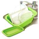 【大感謝価格】たためるシリコン洗い桶スリム グリーン1007853【突然の終了欠品あり・返品キャンセル不可】