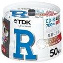 TDK タフネスCD-Rホワイト・ディスク 48倍速記録対応 ポットケース50枚パック CD-R80PWDX50PB [CD-R80PWDX50PB]