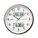カシオ計算機 電波掛け時計 フルオートカレンダー 温度・湿度計付き 茶木目調 ITM-710J-5JF [ITM-710J-5JF]