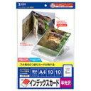 サンワサプライ フォト光沢CD・DVDケースカード(見開き) JP-INDGK2N [JP-INDGK2N]