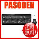 【あす楽】サンワサプライ 2.4GHz マウス付きワイヤレスキーボード ブラック [SKB-WL17SETBK]【無線キーボード】