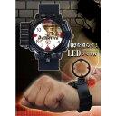 名探偵ウォッチ 名探偵コナン風時計 LED付き 腕時計 送料無料 レッドスパイス