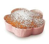 FG74スイートカップフラワー(ピンク) 50枚入ベーキングカップ・ケーキ型・焼型・紙製・お菓子・手作り・製菓用品