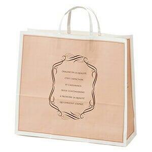 (引き出物 紙袋 ペーパーバック ブライダルバック 袋 引き出物袋 引出物 結婚式) エレガントスイートペーパーバッグ 横底マチ