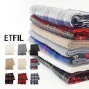 【ETFIL】ウールカシミア大判ストール 全9色ホワイト/ブラック/グレー/ベージュ/ミルクティー無地 チェック レディース ユニセックス