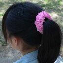 ヘアアクセサリー シュシュ キッズ 子供 女の子 髪飾
