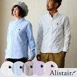 【送料無料】 ALISTAIR [アリステア] 長袖 ボタンダウン シャツ 【silk hat & stick】ワンポイント刺繍 スリムシルエット 日本製 オックスフォード メンズ 無地 カラーシャツ 白|ボタンダウンシャツ オックスフォードシャツ
