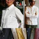 【B-インナー】【送料無料】 SAIL [セイル] 長袖 日本製 無地 シャツ ワンポイント ソ