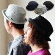 【全国一律送料324円】 Well-Tailored [ウェルテイラード] ポークパイハット ソフト コットンスウェット素材 メンズ レディース ネイビー ブラック グレー ハット 黒 ポークパイ 帽子
