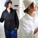 どこへ行っても似合う品の良さがあります。 長袖ブロードシャツ スキッパー 襟ワイヤー入り ワイドシルエット 薄手コットン100%