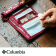 【全国一律送料324円】 Columbia [コロンビア] 財布 ウォレット 3つ折り Columbia コロンビア チャコール ワイン モザイク柄