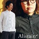 【送料無料】 ALISTAIR [アリステア] 長袖シャツ ハイバンドカラーデザイン 日本製 タイプライター生地 ブラック 黒 カジュアル 30代 40代 | ...