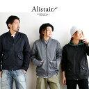【送料無料】 ALISTAIR [アリステア] MA-1ミリタリージャケット 防風性 防水性 ウインドプルーフ生地 刺繍入り スリムシルエット ブルゾン ブラック チャコール ネイビー メンズ レディース
