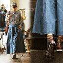 ガウチョ デニム デニムガウチョ ワイドパンツ スカーチョ ウエストゴム サイドジップ 濃淡 加工 綿100% ノンストレッチ ライトデニム レディース 女性用 カジュアル ゆったり リラックス 40代 50代