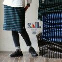 【全国一律送料324円】 SAIL [セイル] スカート ひざ丈 ボーダー柄 バスクシャツ生地 コットン100% ウエストゴム ワンポイント 刺繍 ワッペン