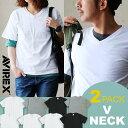【ポイント対象外】Tシャツ 半袖 TEE デイリー「2パック」Vネック カットソー ヘビーウエイト インナー レディース メンズ|シャツ半袖シャツ 半袖tシャツ インナーシャツ メンズティーシャツ ティーシャツ AVIREX [アヴィレックス]