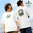 Tシャツ ティーシャツ 半袖 クルーネック 『APPLE TREE 50 前後 プリント』 米綿 天竺 綿100% メンズ レディース 重ね着 カジュアル おしゃれ TOneontoNE [トーン]
