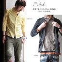 【送料無料】Slick [スリック]ローン素材ワイドスプレッドカラー8分袖 シャツ(5色)メンズ 八分袖 slick スリック