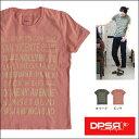 【送料無料】DPSR [ディーピーエスアール] 【BLVD】メッセージプリント半袖 ポケット Tシャツ(オリーブ ピンク ブラック)メンズ Tee カットソー 日本製