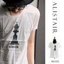 【送料無料】ALISTAIR[アリステア]DネックデザインショートスリーブTEE(カットソー・Tシャツ)(3color・CHESS)
