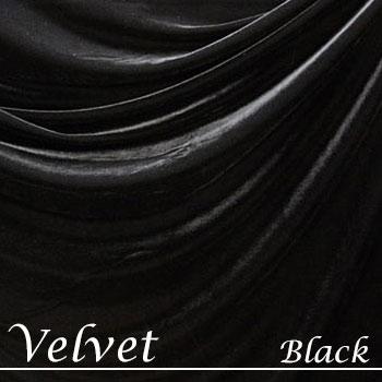 ベルベット生地【ブラック】縦横伸縮性ありストレッチ素材 2WAYベロア ファブリック fab-velvet-black